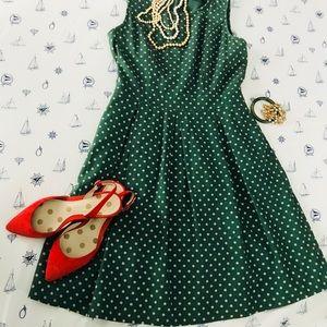 Polka dot sleeveless dress by Comme toi ModCloth
